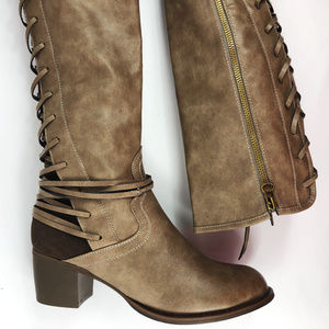 [BOUTIQUE by CORKYS] Faux Leather Lace Up Boot NEW